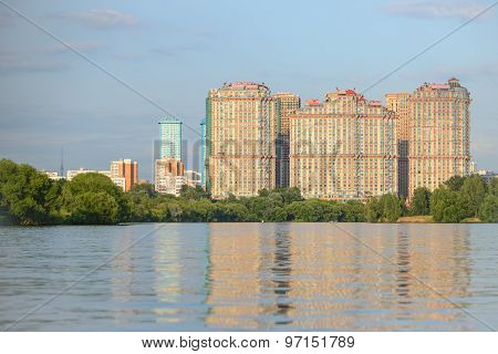 Moscow district near river