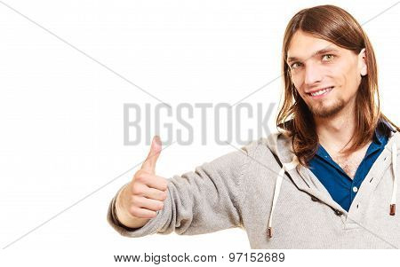 Man Showing Giving Thumb Up