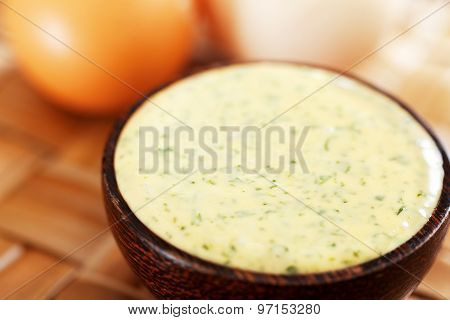 Homemade Mayonnaise With Parsley