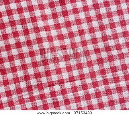 Red Linen picnic Tablecloth.