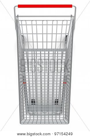 Shopping cart for purchase with red handle
