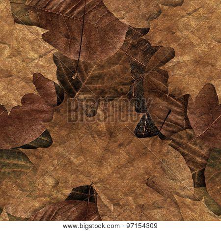 Fall leafs seamless pattern.
