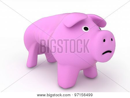 bankruptcy crisis concept - sad piggy bank crying