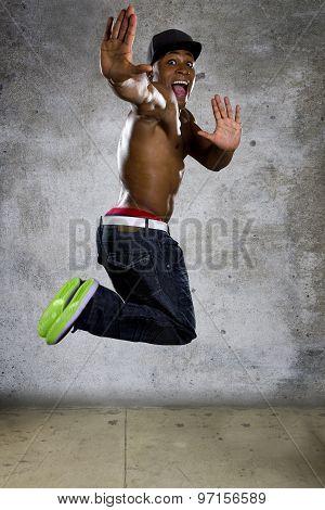Energetic Muscular Man