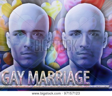 Abstract background digital collage concept illustration gay homosexual marriage