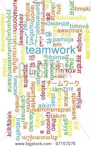 Background concept wordcloud multilanguage international many language illustration of teamwork