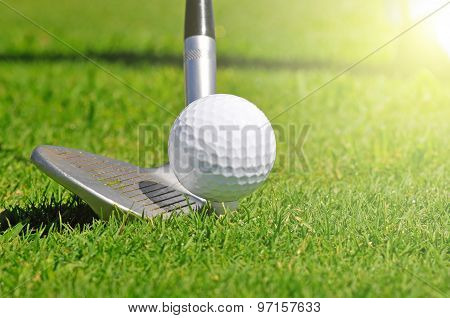 Golf Ball And Driver