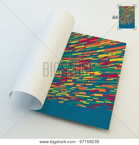 Abstract Technology Background. Multicolored Horizontal Bars On Perspective Plane. Vector Illustration. Can Be Used For Marketing, Website, Print And Presentation.
