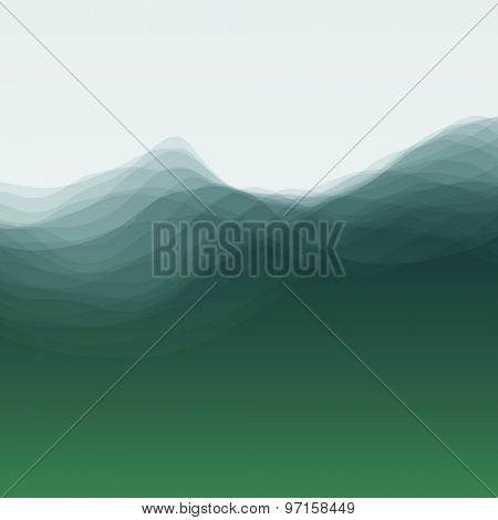 Water Wave. Vector Illustration For Your Design. Flowing Background. Can Be Used For Banner, Flyer, Book Cover, Poster, Web Banners.
