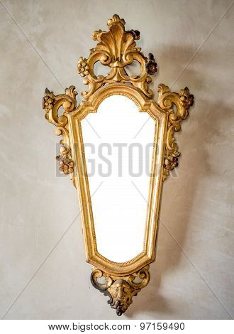 Classic Antique Mirror With Gilded Frame Suitable As A Frame Or Border.