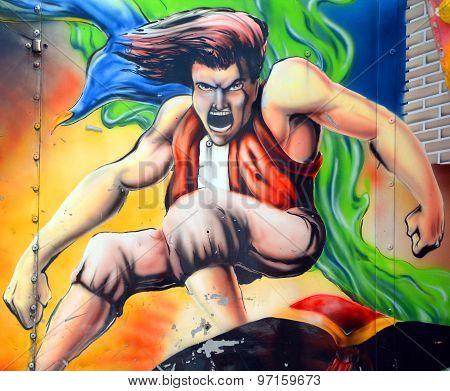 Aladdin mural