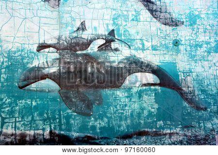 Orcas mural