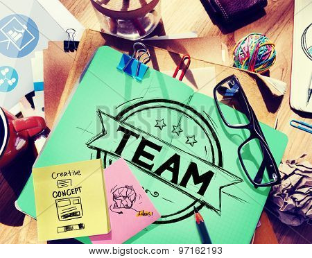 Team Teamwork Collaboration Support Help Coworker Concept