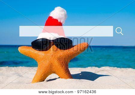 Wonderful Christmas Summer Vacation Beach Concept