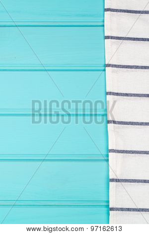 Blue And White Towel Over Table