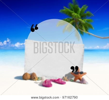 Blank Copy Space Holiday Quotation Mark Summer Concept