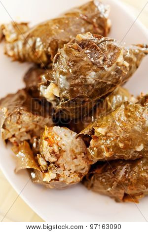Bulgarian Cuisine - Stuffed Grape Leaves
