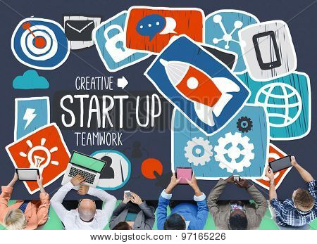 Start Up Launch Growth Success Idea Business Concept