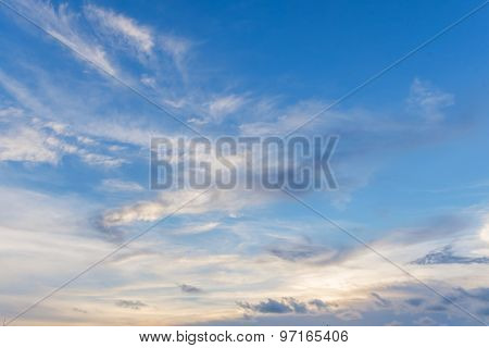 Clouds And Sky During Sunset.