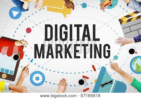 Digital Marketing Internet Strategy Meeting Concept