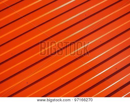 Orange Metal Corrugated Sheet Metal
