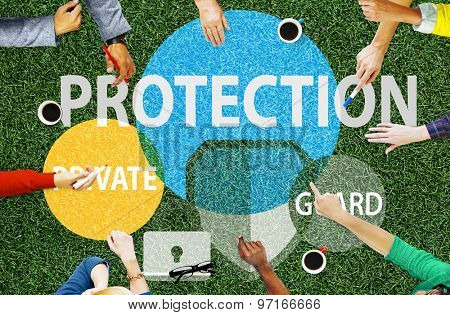 Security Protection Secrecy Privacy Firewall Guard Concept