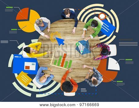 Meeting Information Statistics Analysis Report Concept