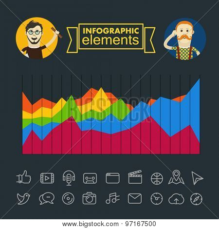 Business infographic elements illustration. Vector clip-art