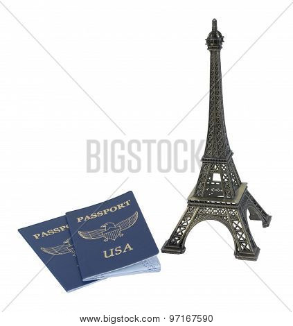 Eiffel Tower And Passport
