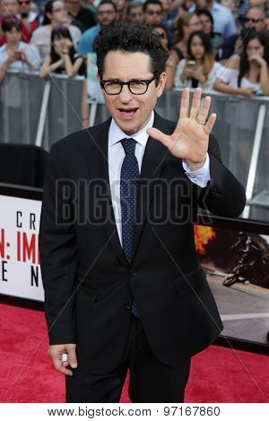 NEW YORK-JUL 27: Producer JJ Abrams attends the US Premiere of 'Mission: Impossible - Rogue Nation' in Times Square on July 27, 2015 in New York City.