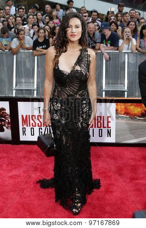 NEW YORK-JUL 27: Actress America Olivo attends the US Premiere of 'Mission: Impossible - Rogue Nation' in Times Square on July 27  2015 in New York City.