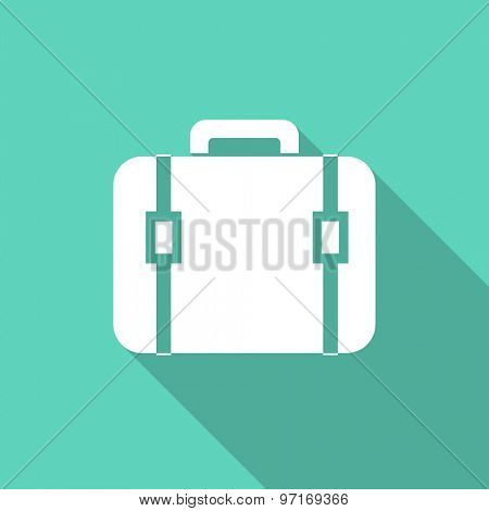 bag flat design modern icon with long shadow for web and mobile app