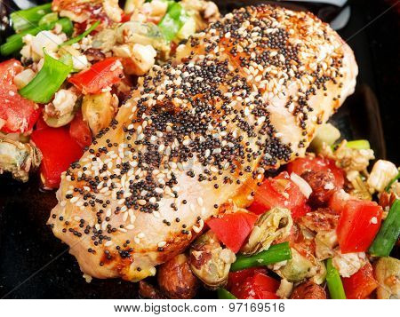 Stuffed Chicken With Salsa