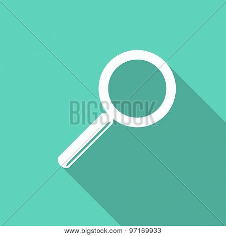 search flat design modern icon with long shadow for web and mobile app