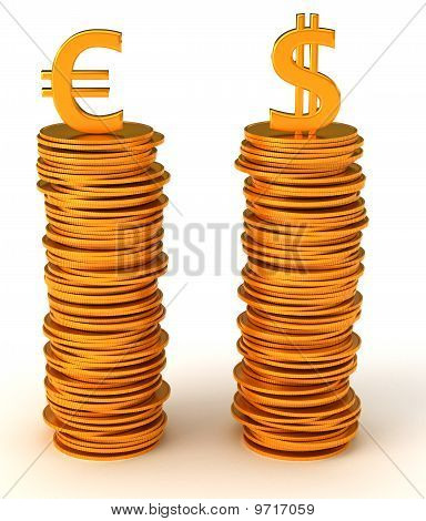 Currency Equality - Us Dollar And Euro