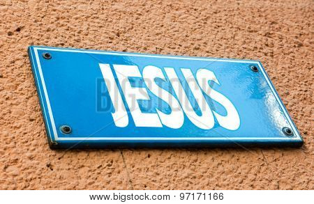 Jesus sign in a conceptual image