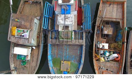 Aerial View of Native Community Boat Pear in Brazil