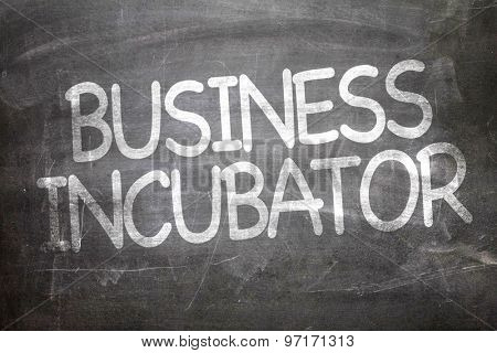Business Incubator written on a chalkboard