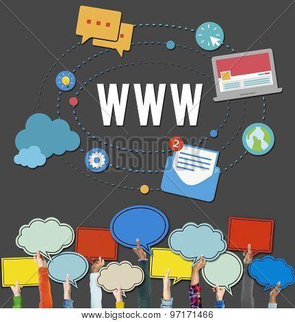 WWW Web Internet Online Connection Concept