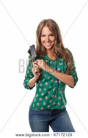 Pretty Woman with A Paint Brush