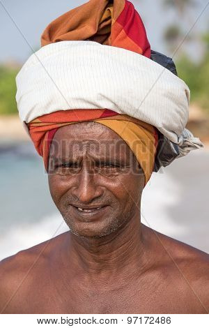 Portrait Fisherman In South Sri Lanka