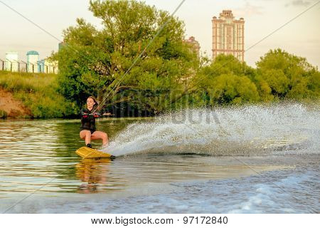 Wakeboard moving