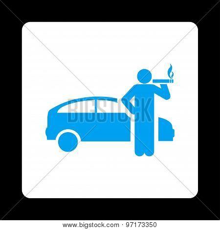 Smoking taxi driver icon