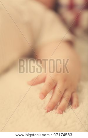 Baby hand, closeup