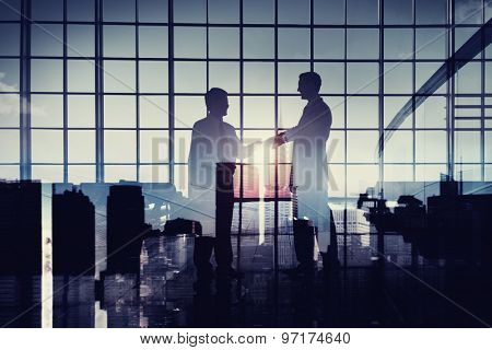 Businessmen Handshake Deal Commitment Support Concept