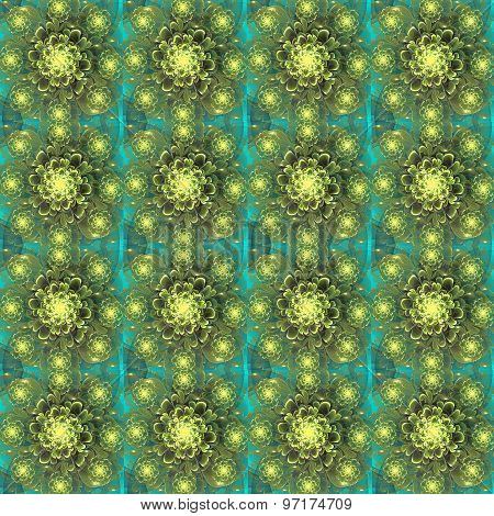 Beautiful Fractal Flower Background. Computer Generated Graphics. Artwork For Creative Design