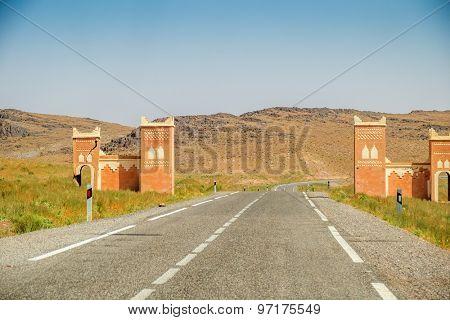 Road N10 from Taroudant to Ouarzazat, Morocco