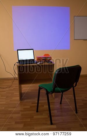 Video projector for work presentation or home cinema entertainment.