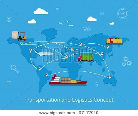 Logistics and transportation concept