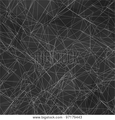 Wireframe Polygonal Element. Abstract Background With Connected Lines And Dots